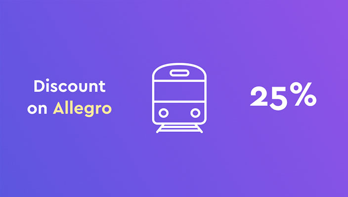 Up to 25% off Allegro train tickets for New Year holidays